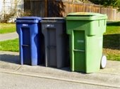 garbage collection cans image