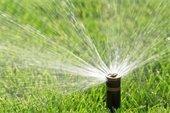 Irrigation sprinkler graphic