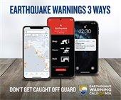 Earthquake Warnings 3 Ways Graphic