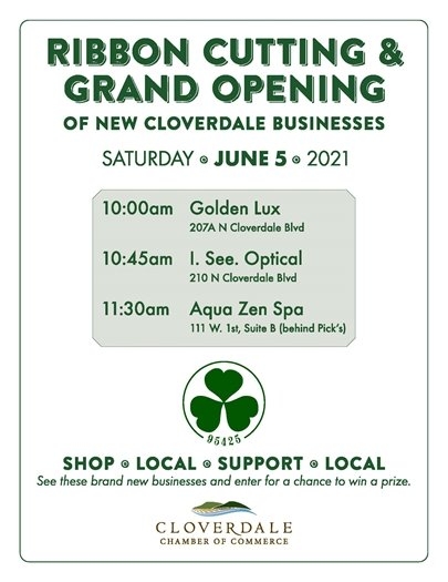 ribbon cutting and grand opening graphic