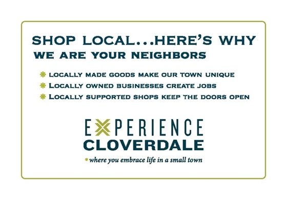 shop local image for cloverdale