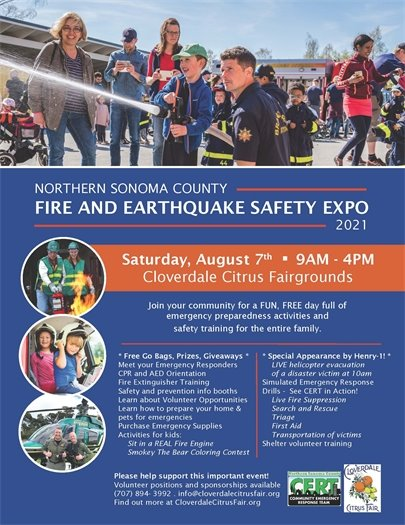 Fire and Earthquake Safety Expo Flyer