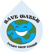 Save Water Every Drop Counts Graphic