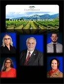 Virtual City Council Meeting and Current Council Photos