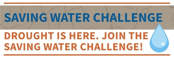 Saving Water Challenge Graphic