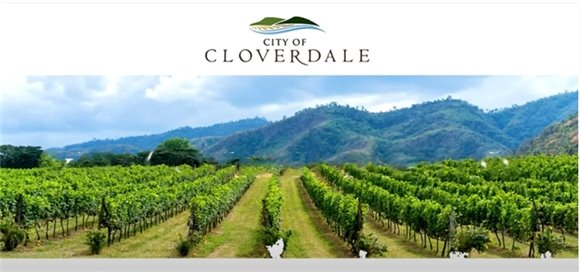 City of Cloverdale Logo with Vineyard