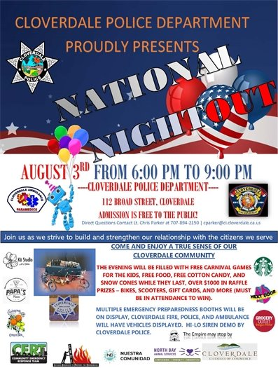 August 3 National Night Out