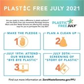 Plastic Free July graphic