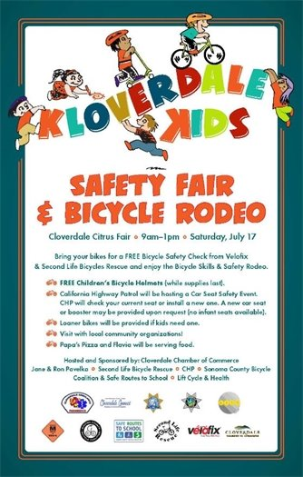 safety fair and bike rodeo graphic