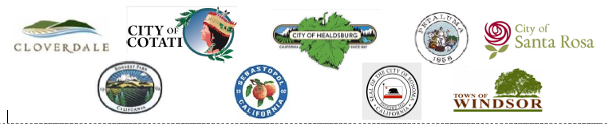 Logos of Sonoma County Cities